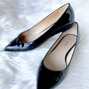 M.Gemi Fortuna Patent Leather Point Toe Flat Black